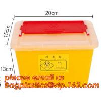 Buy cheap 1L 2L 4L 6L plastic round medical disposable sharps bins, plastic disposables sharpes container /sharpes bin for medical product