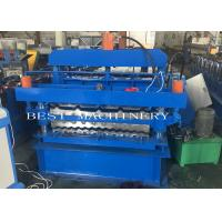 Buy cheap IBR Corrugated Roof Panel Tile Roll Forming Machine , Roof Sheet Making Machine product