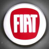 Buy cheap Fiat dealer use Programmable Advertising acrylic Chrome Led 3D Car Logo Signage from wholesalers