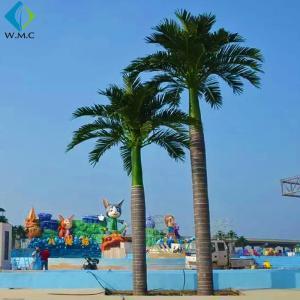 Buy cheap Fiberglass Trunk Artificial Palm Trees Large Size For Theme Park Decoration product