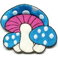 Kids Embroidered Custom Iron On Patches Applique Mushroom Butterfly