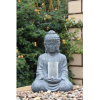China Cyan Stone Sitting Buddha Asian Water Fountains In Magnesia Material wholesale