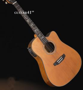 China OEM Deluxe Cedar Solid wood Guitar / Vintage Wood Acoustic Guitar TP-AG57 on sale