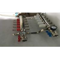 Buy cheap Intelligent Temperture Control Floor Heating Manifold With Two Auto Drain Valve 5 Ways product