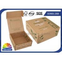 China Printed Brown Corrugated Mailer Box kraft paper gift boxes Beauty Product Packaging on sale