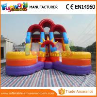 China 1 Year Warranty Kids Water Slide Inflatable Floating Water Slide With Pool on sale