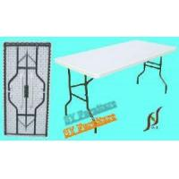 China Sy-152c 5 Foot White Plastic Folding Table on sale