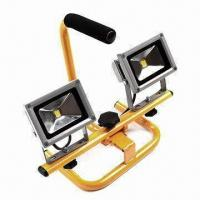 Buy cheap 2 x 10W Floodlight with Portable Handle, 90lm/W High Bright LED, More than 30,000 Hours Lifespan product