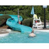 Fiberglass Squirt Pool Water Slides , Family Resorts Water Pool Slides Safety