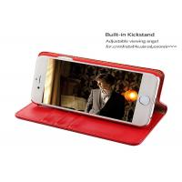 Quality Antidirty 5.5'' Apple iphone Leather Case / Red leather folio case iphone 6s plus for sale