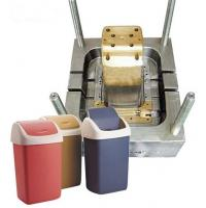 Quality Buena calidad y moldeo por inyección plástico del precio barato para el bote de basura del compartimiento de basura for sale