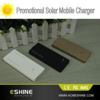 Buy cheap 2000mAh Portable Solar Power Bank Oil-coated For Cell Smart Phone product