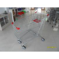 China Zinc Plated 240L Supermarket Shopping Carts with Q195 Low Carbon Steel Material wholesale