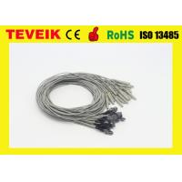 China Reusable Medical Cable , Silver Chloride Plated Copper EEG Electrode Cable wholesale