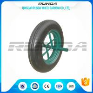 Buy cheap Line Pattern Solid Rubber Wheelbarrow Wheels14 Inch Hollow Axle Powder Coated Rim product