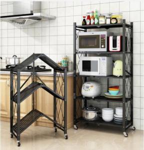Buy cheap Black white fold Light Duty Metal Frame Shelf Goods Rack for kitchen office space product