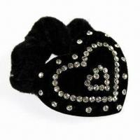 Buy cheap Ponytail Holder with Lint/First Diamond, 6.5cm Diameter, Customized Specifications are Accepted product