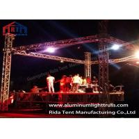 Buy cheap Sound And Lighting Concert Truss System / Spigot Type Aluminum Stage Truss product