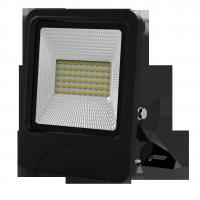 Buy cheap outdoor lighting lamp flood light led 30W 60pcs SD5730 IP66 isolated IC driver black fixture new slim integrated design product