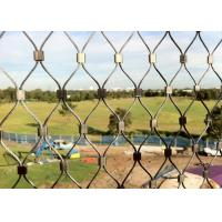 Buy cheap 304 316 Stainless Steel Wire Netting , Durable Zoo Mesh Animal Cage Fencing product