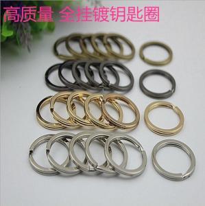 Buy cheap Mutil-color round shape 24 mm iron metal split key ring clip wholesale product