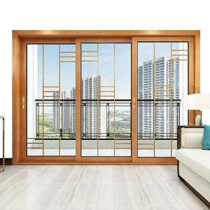 Buy cheap Thermal Break Aluminum Sliding Doors , Three Track Sliding Doors With Aluminum Frame product