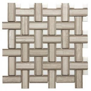 Buy cheap Onyx White Chevron Mosaic Tile , 7 / 8mm Thick Bathroom Stone Mosaic Tile product