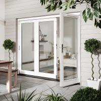 Buy cheap Exterior Commercial Aluminium Hinged Doors / Insulated Tempered Glass Front Door from wholesalers