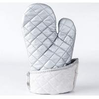 Buy cheap Washable Silver Oven Gloves , Heat Proof Kitchen Gloves Heat Transfer Printing product