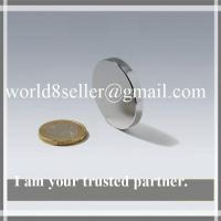 Buy cheap Sintered NdFeB Disc Magnet With Ni Coating And Mark on North Pole for world people product