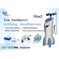 China Vacuum Four Handles Coolsculpting Cryolipolysis Machine For Body Slimming wholesale
