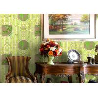 Buy cheap Bamboo And Tree Geometric Printing Chinese Style  Wallpaper Simulated Wood Grain product