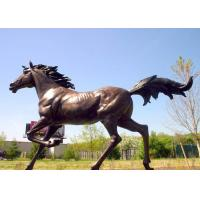 Buy cheap Large Running Bronze Garden Statues Horse Sculpture Corrosion Stability product