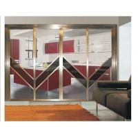 Buy cheap Interior Partition Metal Sliding Doors, Aluminum Frame Modern Sliding Glass Room Dividers product
