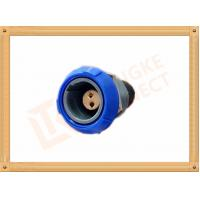 Buy cheap Push Pull 2 Pin Circular Connector Self Locking / Double Reed Locked product
