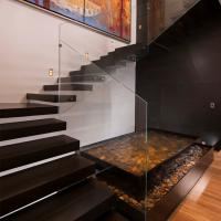 Buy cheap Frameless Glass Railing Floating Straight Exterior Stair Design product