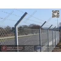 China Chain Link Fence | Anti Intruder Security Chain link Fencing with V arm post on sale