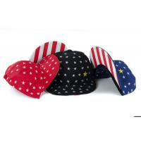 Buy cheap Flat Visor Snapback Baseball Caps With USA Stars Strips Patterns Adjustable Sizes product