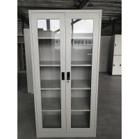Buy cheap Office design for Glass door swing open four adjusted shelves steel cabinet KD structure product