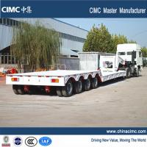 China 100 tons gooseneck detachable front loading lowboy trailer on sale