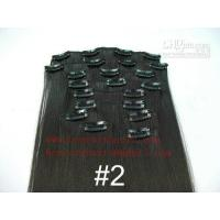 China 100% REMY hair extension, Clips in hair extension 8-34 in length,color can be selected. on sale