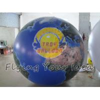 Buy cheap Blue Inflatable Earth Balloons Globe with 540*1080 dpi high resolution digital printing product
