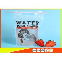 Buy cheap Plastic Beverage Juice Stand Up Ziplock Bags With Hanging Holes , 450-500ml from wholesalers