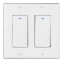Buy cheap Voice Control Alexa 100VAC Wifi Smart Wall Switch 2 Gang For Hotel / Home product