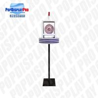 Buy cheap Floor Standing Acrylic Display Rack Creative POP Led Light For Draft Beers Drinks product