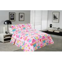 Buy cheap Cake Pattern Printed Quilt Set Washable 240x260 / 260x280cm Bed Cover Sizes product