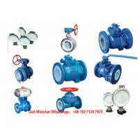 Quality PE Lined Steel  Ball valve Butterfly valve check valve Fluorine stop valve Fluorine lined pipe fittings Fluorine for sale