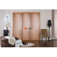 Buy cheap Decorative Indoor Antique Louver Door , 3 Panel Cabinet / Bathroom Sliding Door product