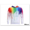Buy cheap Graffiti Painting Drops Printed Long Sleeve Pockets Slim Pullover Hoodie from wholesalers