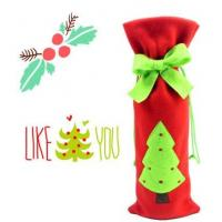 Buy cheap Christmas Decoratived Red Fleece Wine Bottle Cover product